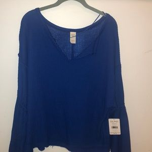 FREE PEOPLE new with tags blue shirt